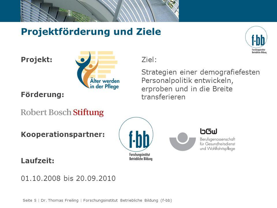 Seite 5 | Dr. Thomas Freiling | Forschungsinstitut Betriebliche Bildung (f-bb) Projekt: Förderung: Kooperationspartner: Laufzeit: 01.10.2008 bis 20.09