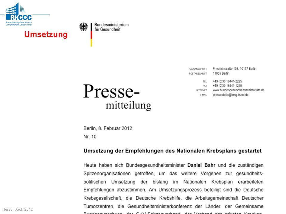 Technische Universität München Herschbach 2012 Umsetzung