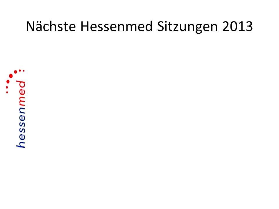 Nächste Hessenmed Sitzungen 2013