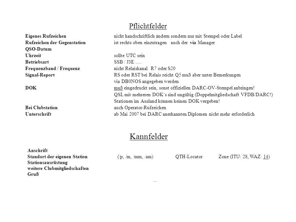 QSL-Vermittlung Keine QSL-Karten direkt zur QSL-Vermittlung des DARC schicken sortierten der QSL-Karten nach Länderkennzeichen (Prefix) Karten die an einen QSL-Manager gehen nach VIA und nicht nach TO RADIO sortieren QSL-Karten für deutsche Funkamateure werden nach den ersten beiden Buchstaben im Prefix sortiert, z.B.
