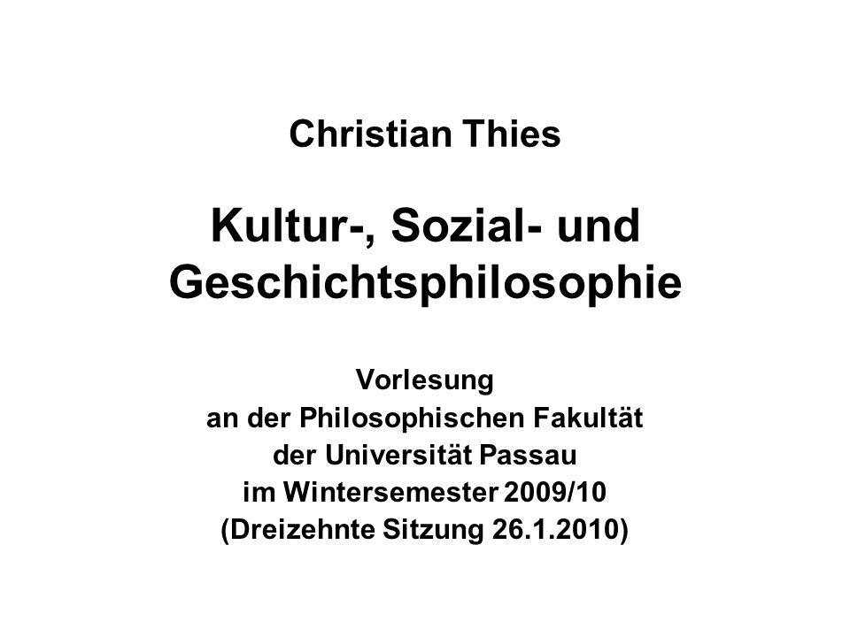 26.1.2010Christian Thies Vorlesung WS 2009/10 12 Arnold J.