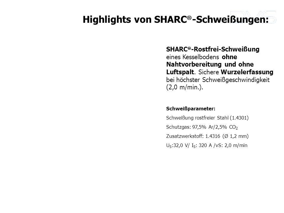 SHARC -Rostfrei-Schweißung eines Kesselbodens ohne Nahtvorbereitung und ohne Luftspalt. Sichere Wurzelerfassung bei höchster Schweißgeschwindigkeit (2