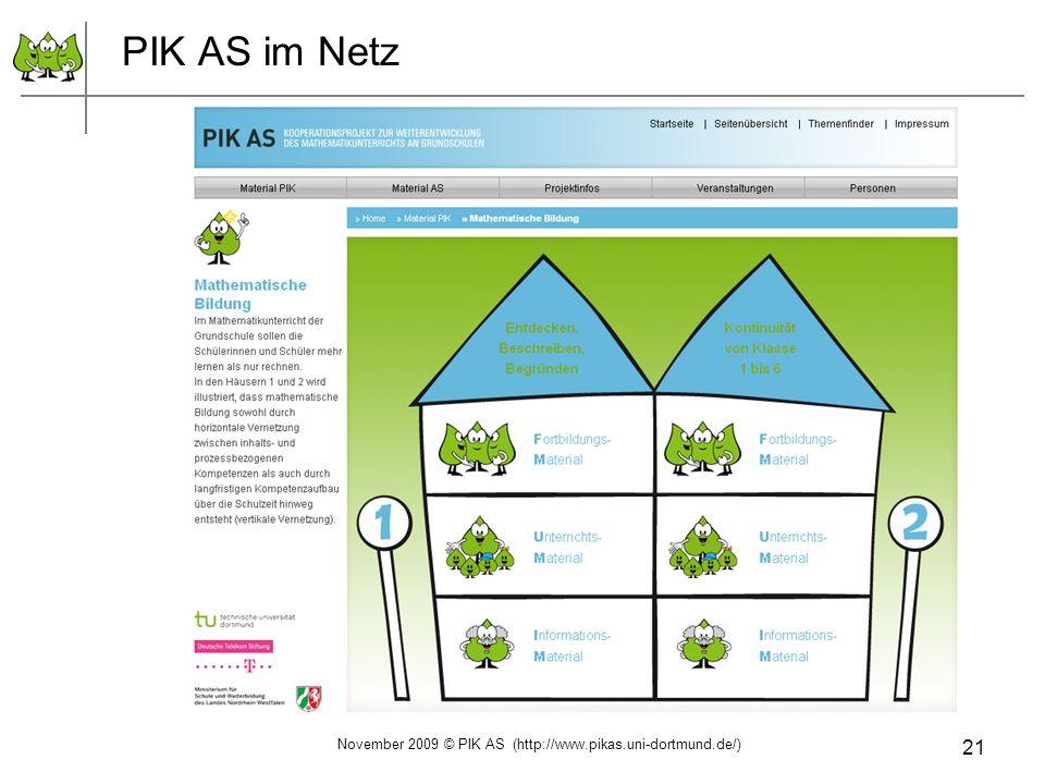 21 PIK AS im Netz November 2009 © PIK AS (http://www.pikas.uni-dortmund.de/)