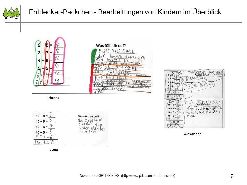 28 Auswertung zur Eingangs-Standortbestimmung November 2009 © PIK AS (http://www.pikas.uni-dortmund.de/) 1.