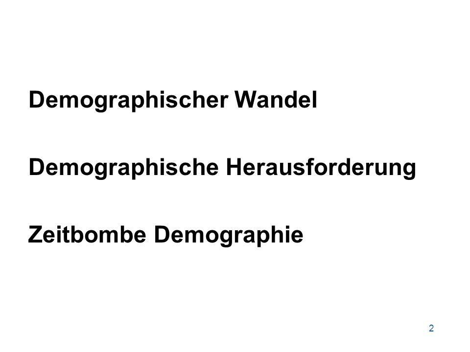 2 Demographischer Wandel Demographische Herausforderung Zeitbombe Demographie