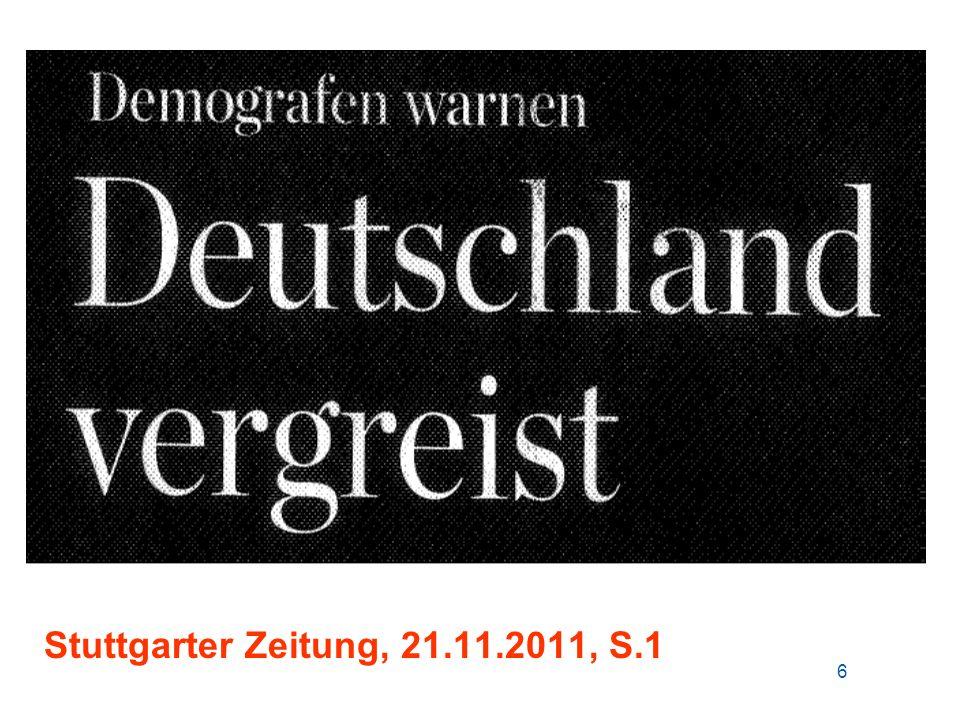 Altersaufbau der in Deutschland lebenden Bevölkerung 1950 – 2030 / Entwicklung des Bruttoinlandsproduktes Quelle: Statistisches Bundesamt; eigene Berechnungen Reales BIP 1990 bis 2010 : + 33% Reales BIP 1990 bis 2010 : + 33% 37