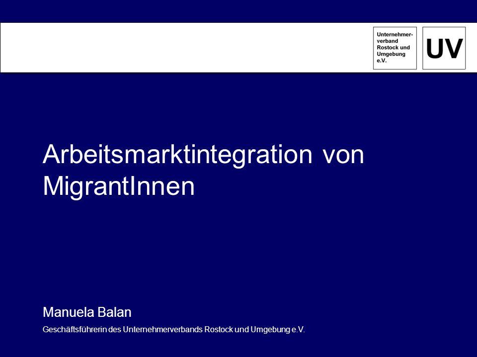 Unternehmerverband Rostock und Umgebung e.V.: - Momentan ca.