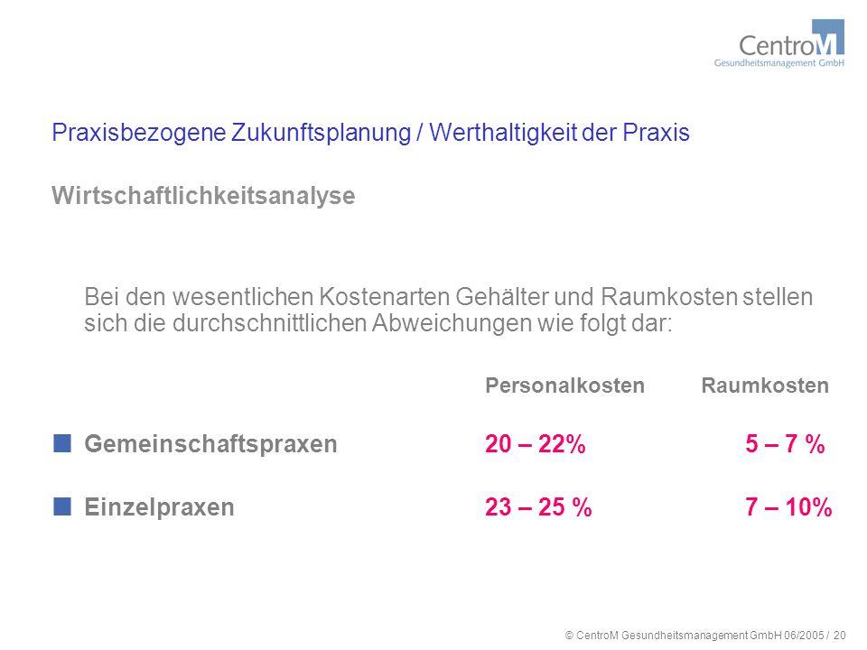 © CentroM Gesundheitsmanagement GmbH 06/2005 / 21