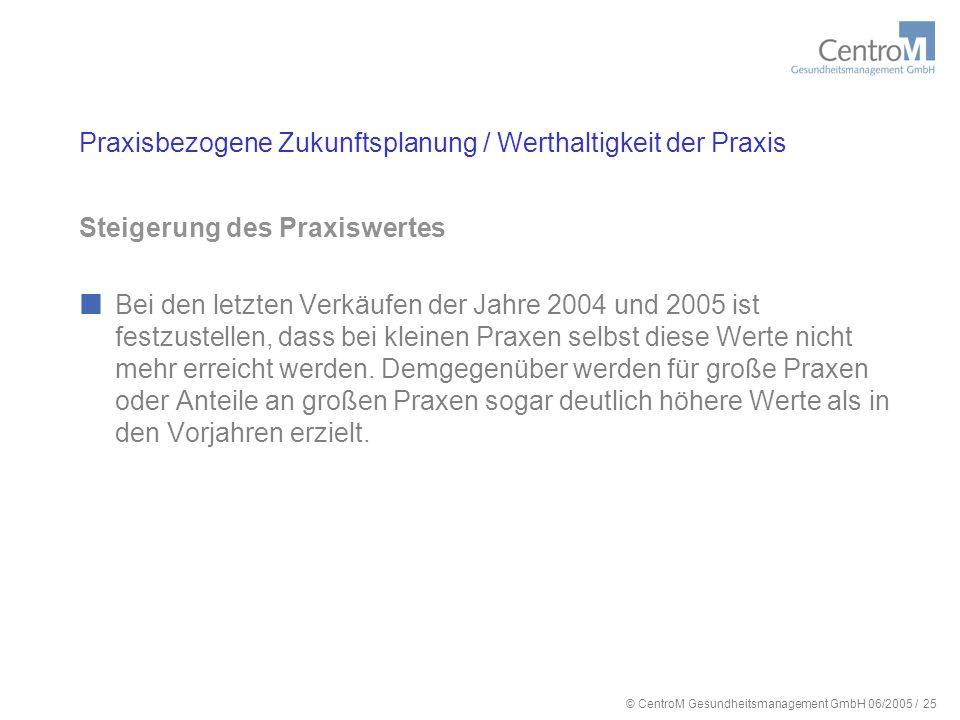 © CentroM Gesundheitsmanagement GmbH 06/2005 / 26 Vielen Dank für Ihre Aufmerksamkeit!