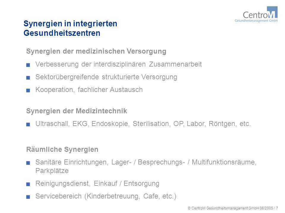 © CentroM Gesundheitsmanagement GmbH 06/2005 / 8 Die Immobilie für das 21.