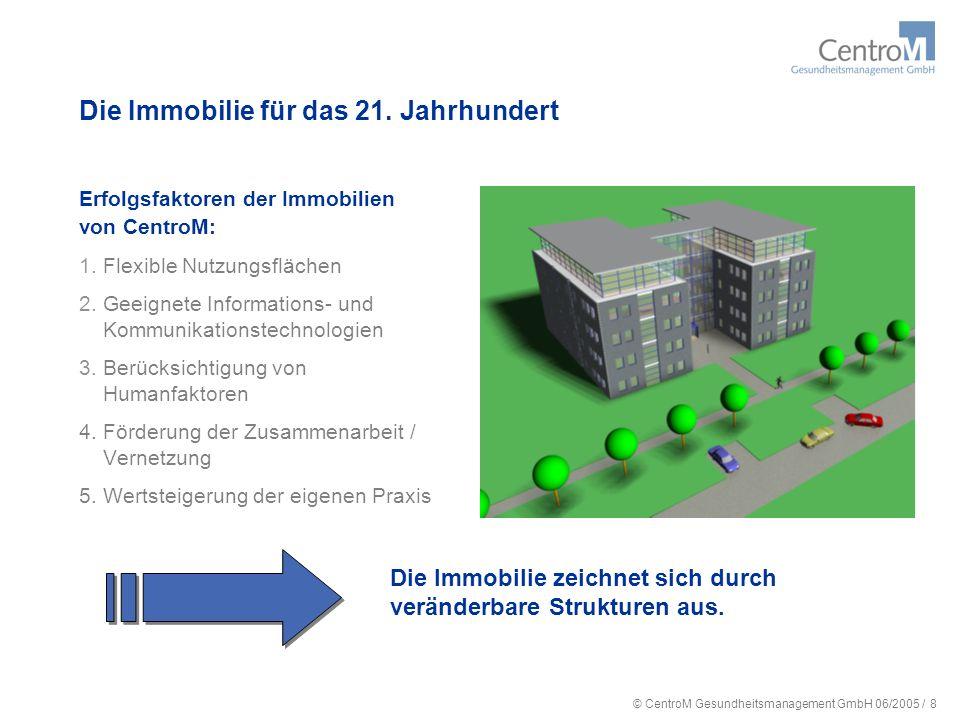 © CentroM Gesundheitsmanagement GmbH 06/2005 / 9 CentroM Betreiber GmbH stellt den Mietern eine ready to work Infrastruktur zur Verfügung.