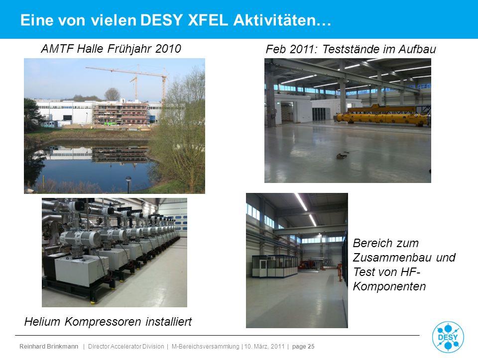 Reinhard Brinkmann | Director Accelerator Division | M-Bereichsversammlung | 10. März, 2011 | page 25 Eine von vielen DESY XFEL Aktivitäten… AMTF Hall