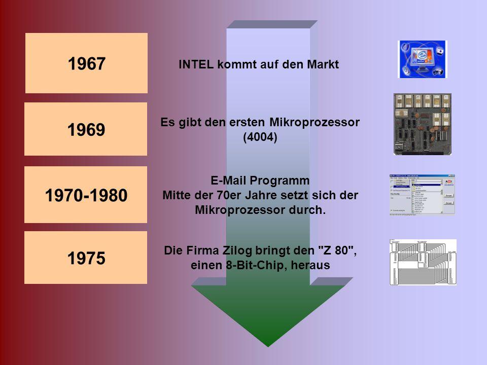 Basic, eine nicht professionelle Programmiersprache für den normalen Computeranwender ICs, integrierte Schaltkreise, ersetzen Ende der 60er die Transi