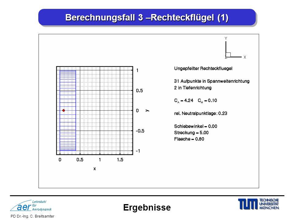 PD Dr.-Ing. C. Breitsamter Berechnungsfall 3 –Rechteckflügel (1) Ergebnisse