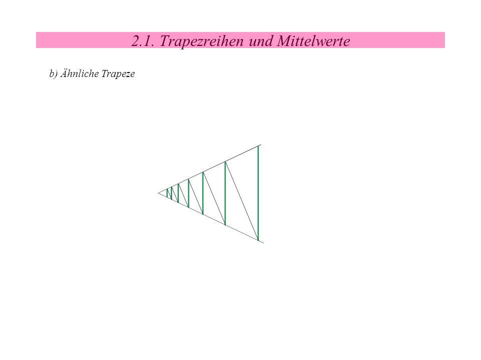 2.1. Trapezreihen und Mittelwerte b) Ähnliche Trapeze