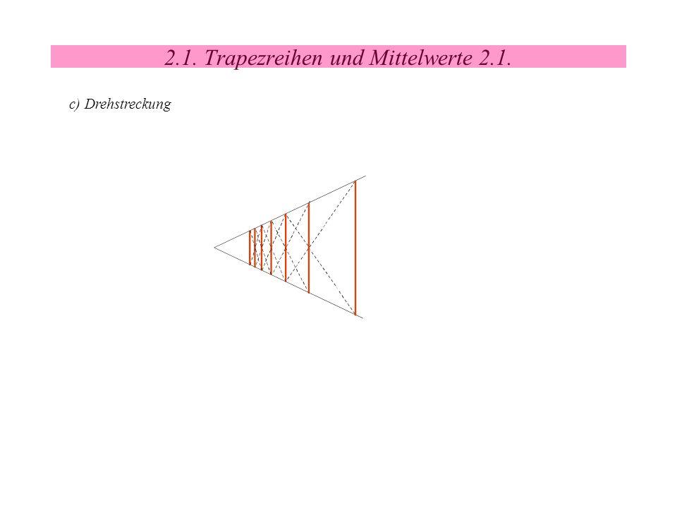2.1. Trapezreihen und Mittelwerte 2.1. c) Drehstreckung