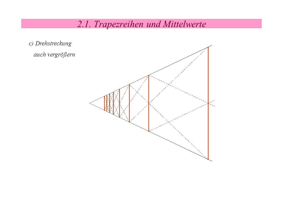 2.1. Trapezreihen und Mittelwerte c) Drehstreckung auch vergrößern