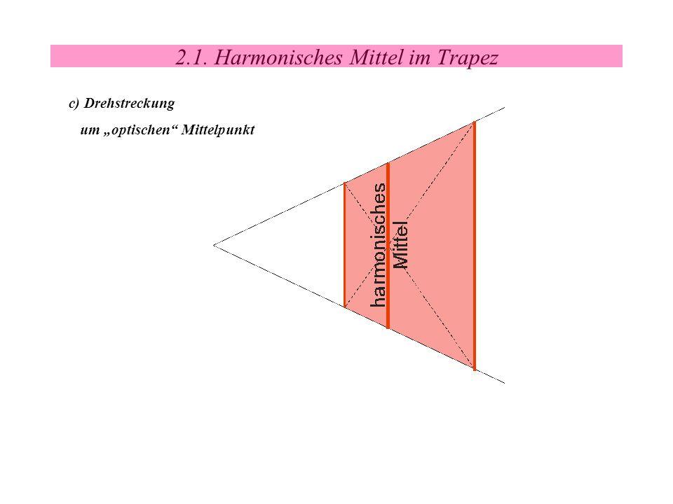 2.1. Harmonisches Mittel im Trapez c) Drehstreckung um optischen Mittelpunkt