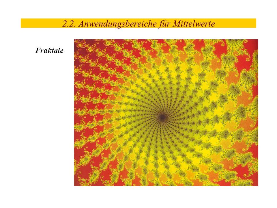 2.2. Anwendungsbereiche für Mittelwerte Fraktale