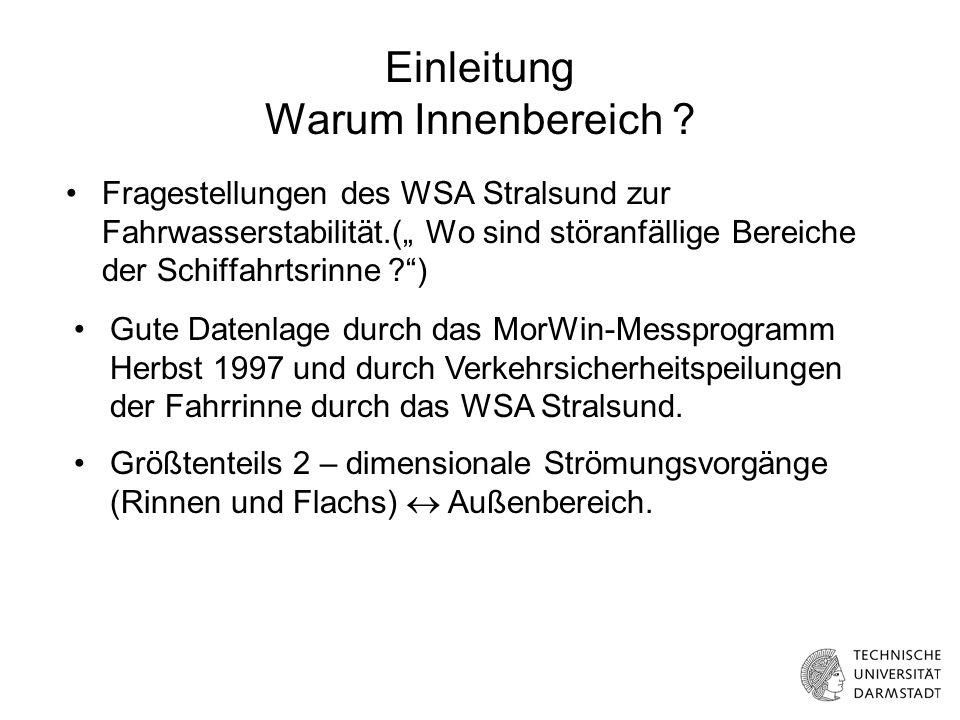 Pegeldifferenz Barhöft- Neuendorf Winter 97-98 Aus- strom Ein- strom Vergleich mit gemessenen Volumina Bestimmung der wasserstandsinduzierten Ereignisse