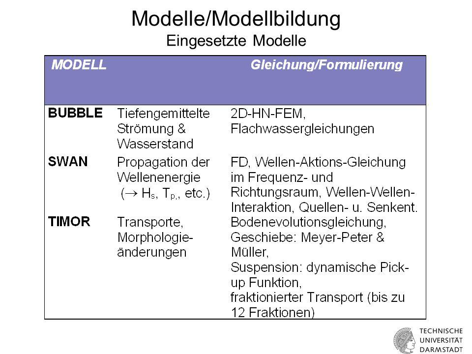 Modelle/Modellbildung Eingesetzte Modelle
