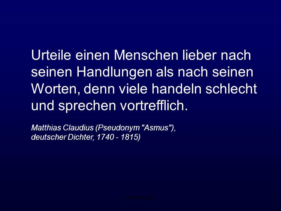 me-online.de Das Geheimnis, mit allen Menschen in Frieden zu leben, besteht in der Kunst, jeden seiner Individualität nach zu verstehen. Friedrich Lud