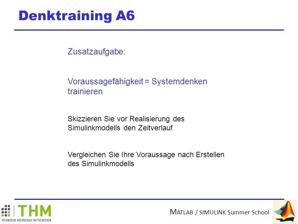 M ATLAB / SIMULINK Summer School Realisierung System mit Delay A6 Lösung für den Notfall