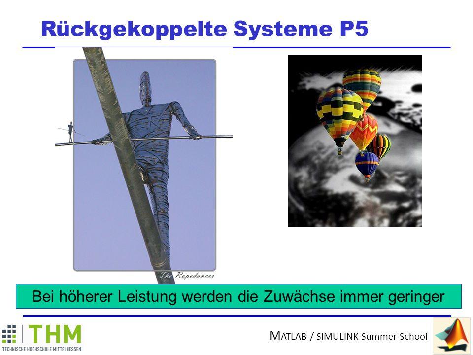 M ATLAB / SIMULINK Summer School Rückgekoppelte Systeme P5