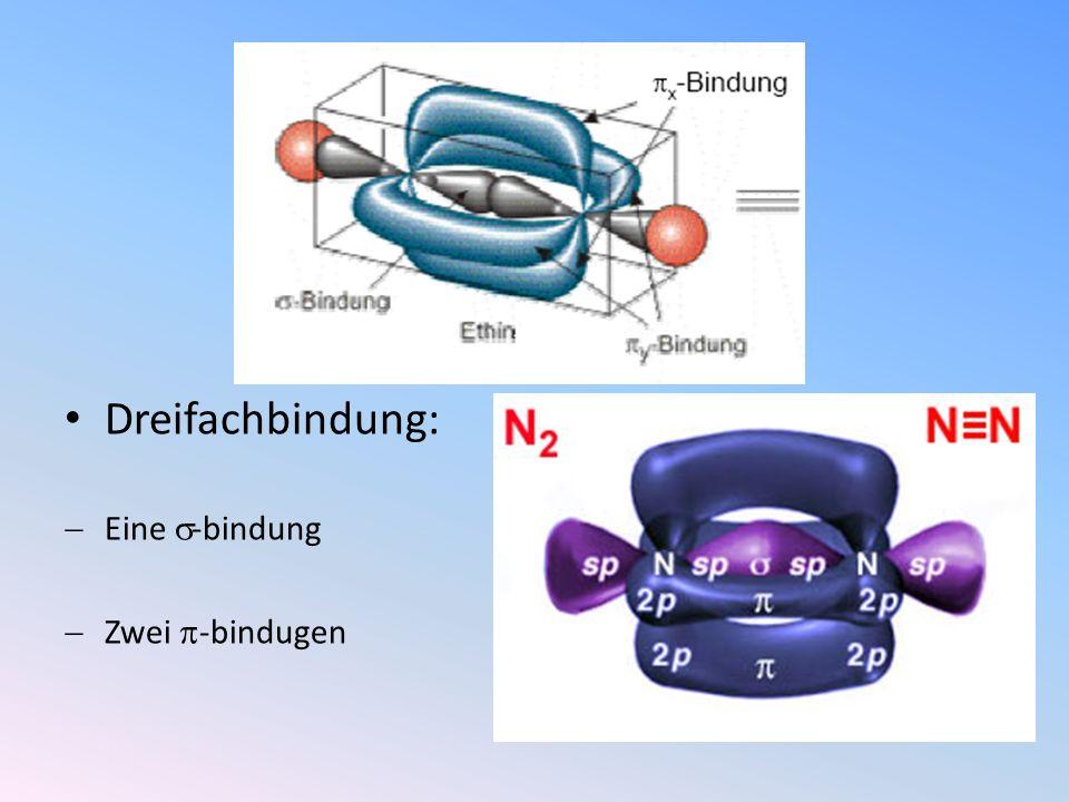 Dreifachbindung: Eine -bindung Zwei -bindugen