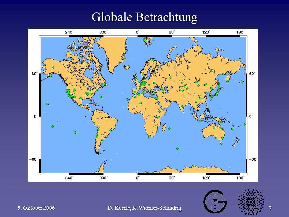 5. Oktober 2006D. Kurrle, R. Widmer-Schnidrig7 Globale Betrachtung