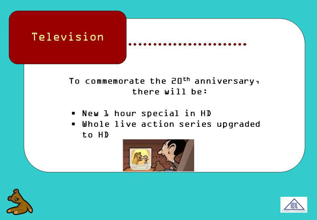 Television To commemorate the 20 th anniversary, there will be: New 1 hour special in HD Whole live action series upgraded to HD