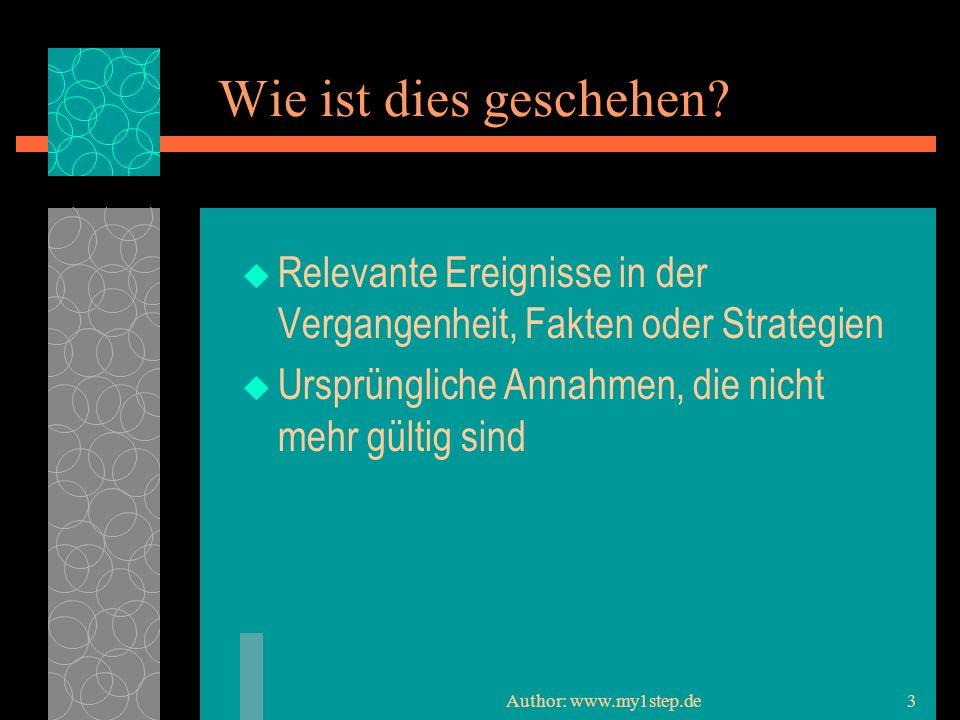 Author: www.my1step.de3 Wie ist dies geschehen.