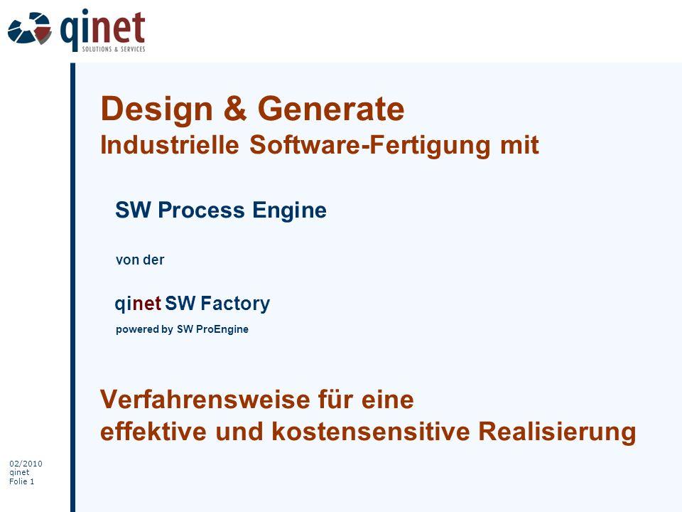 02/2010 qinet Folie 32 qinet / SW ProEngine Expertise
