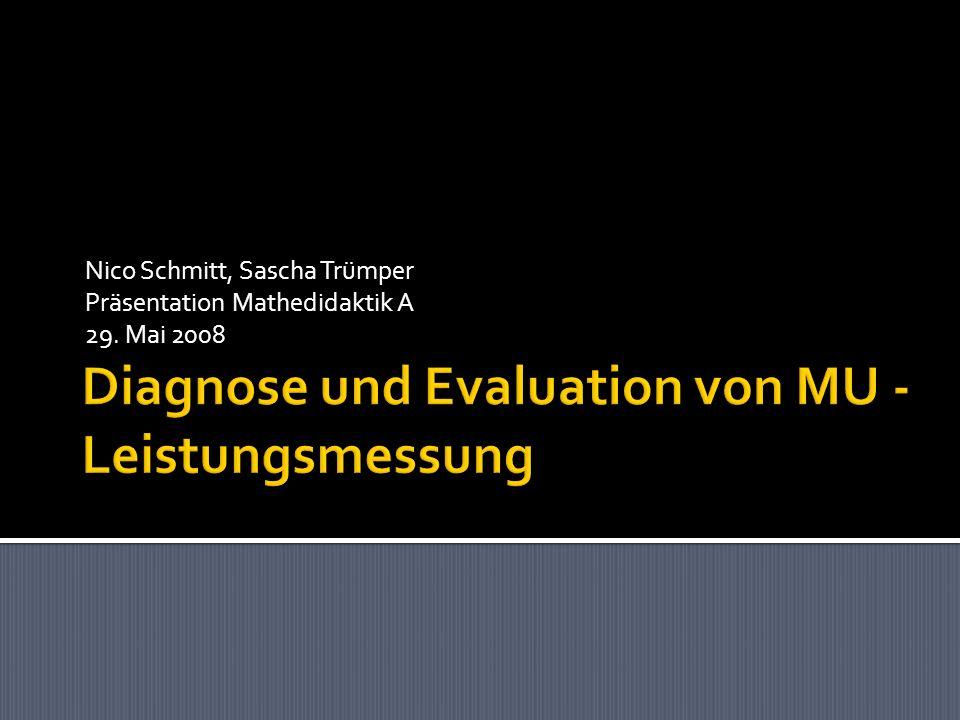 Nico Schmitt, Sascha Trümper Präsentation Mathedidaktik A 29. Mai 2008