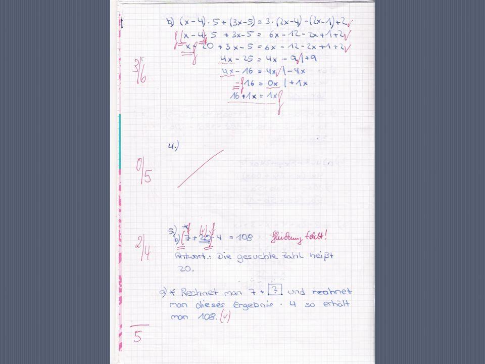 1.Den einzelnen Aufgaben Punkte zuordnen 2. Ein Auswertungsblatt anfertigen 3.