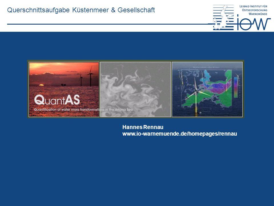 QuantAS - Off Querschnittsaufgabe Küstenmeer & Gesellschaft Hannes Rennau www.io-warnemuende.de/homepages/rennau