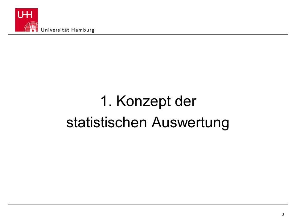 3 1. Konzept der statistischen Auswertung