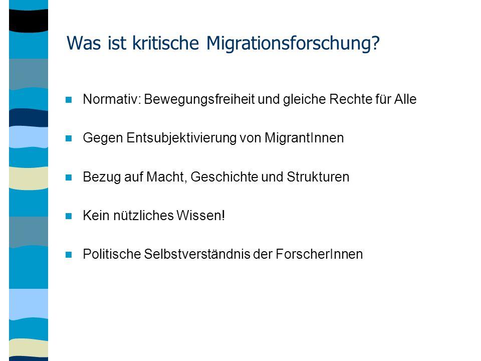 Was ist kritische Migrationsforschung.