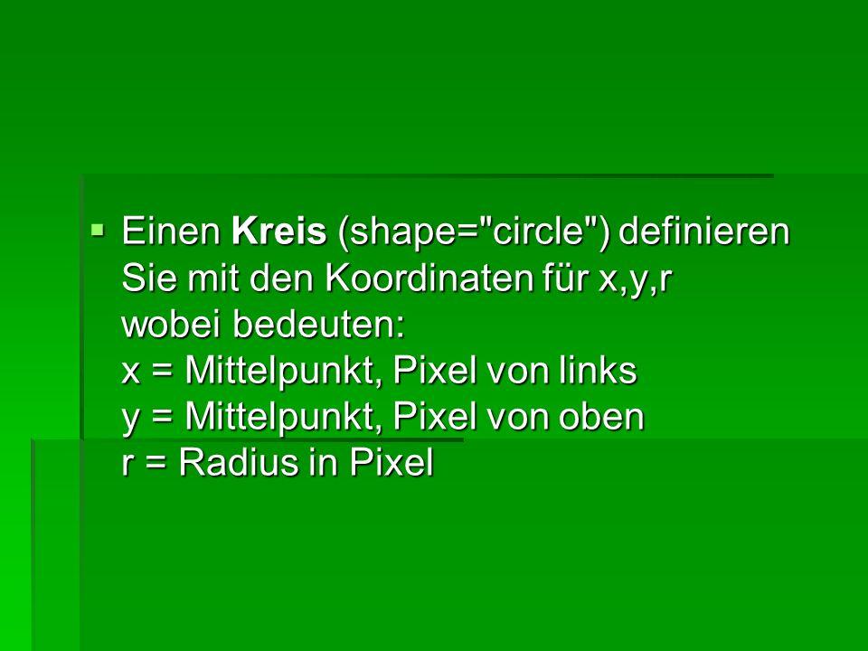 Ein Polygon (shape= poly ) definieren Sie mit den Koordinaten x1,y1,x2,y2...