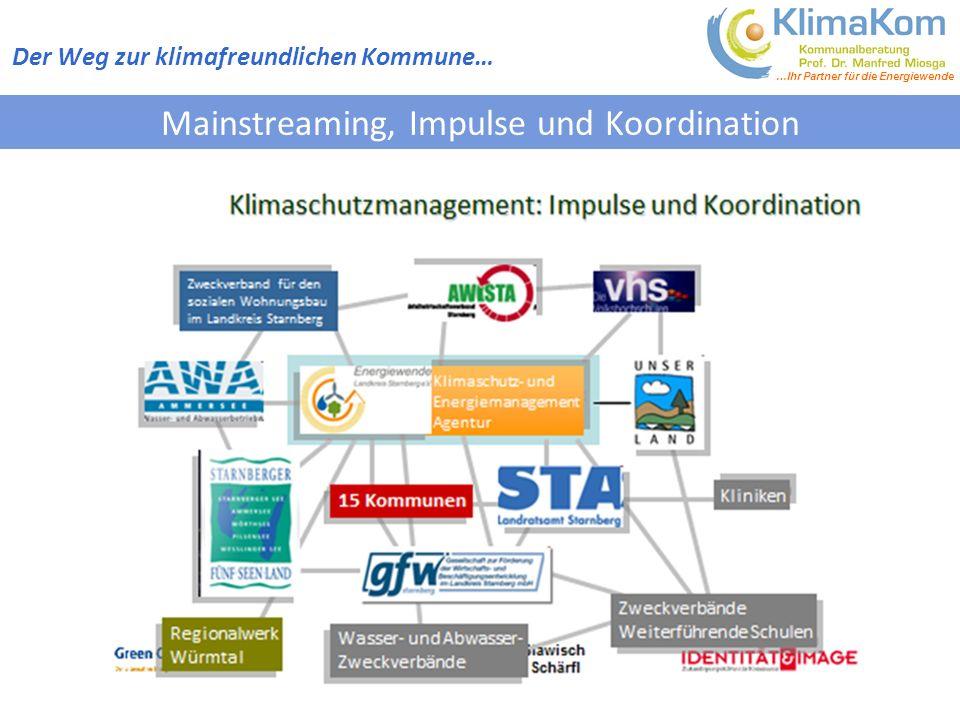 …Ihr Partner für die Energiewende Mainstreaming, Impulse und Koordination Der Weg zur klimafreundlichen Kommune…