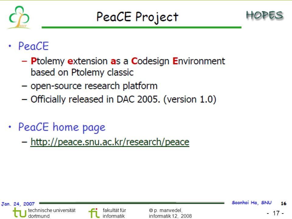 - 17 - technische universität dortmund fakultät für informatik p. marwedel, informatik 12, 2008