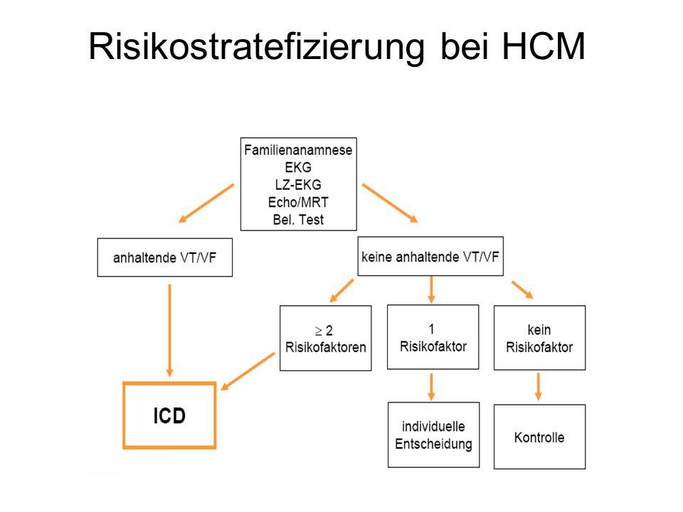 Risikostratefizierung bei HCM