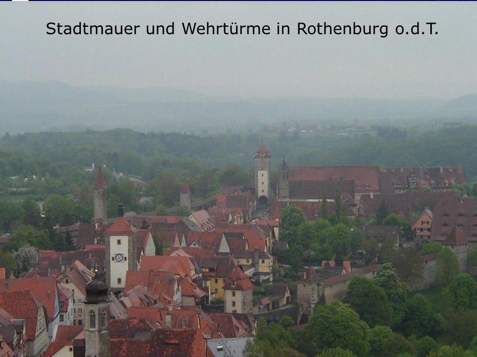 © 2005 Michael Seeger: Zünfte im MAMichael Seeger 26 Stadtmauer und Wehrtürme in Rothenburg o.d.T.