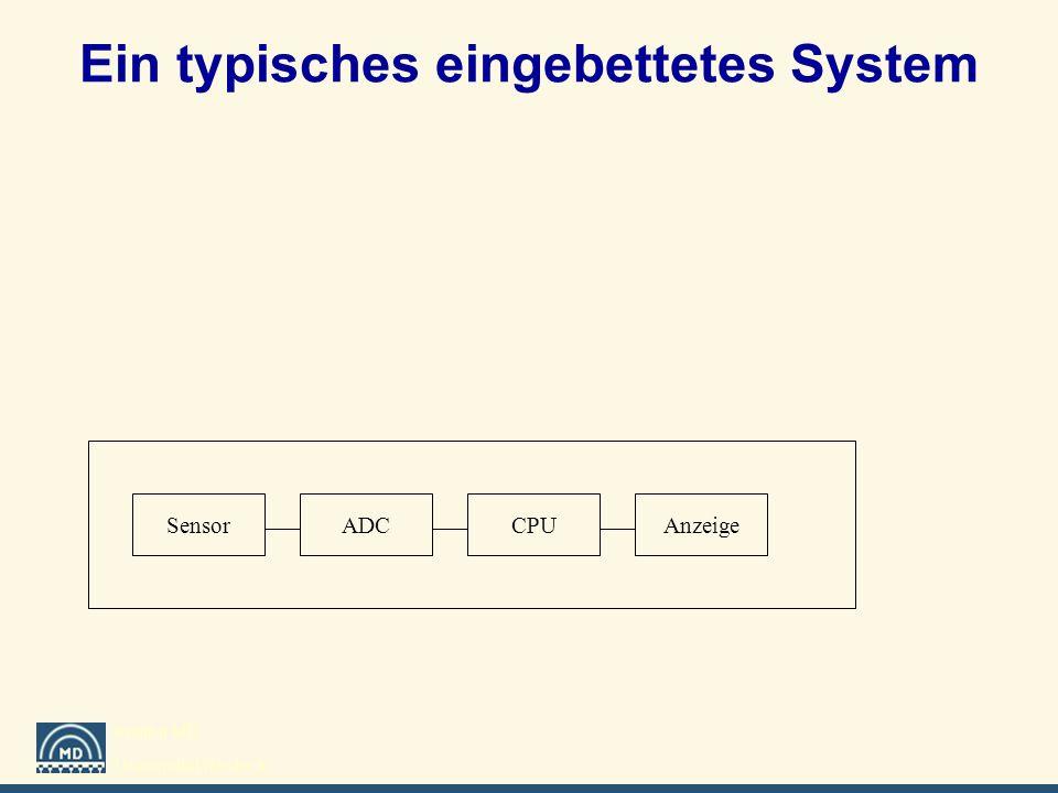Institut MD Universität Rostock Ein typisches eingebettetes System SensorADCCPUAnzeige
