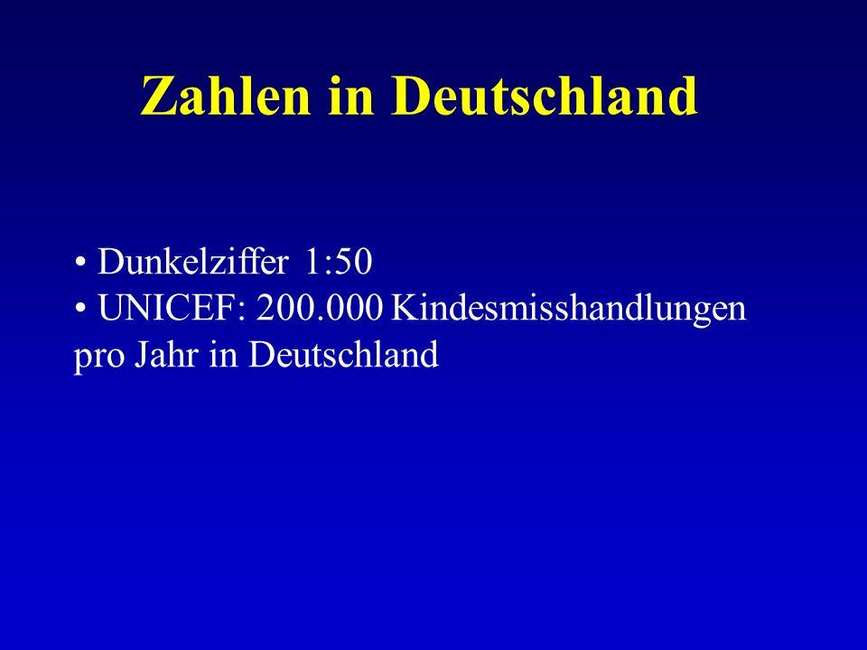 Dunkelziffer 1:50 UNICEF: 200.000 Kindesmisshandlungen pro Jahr in Deutschland
