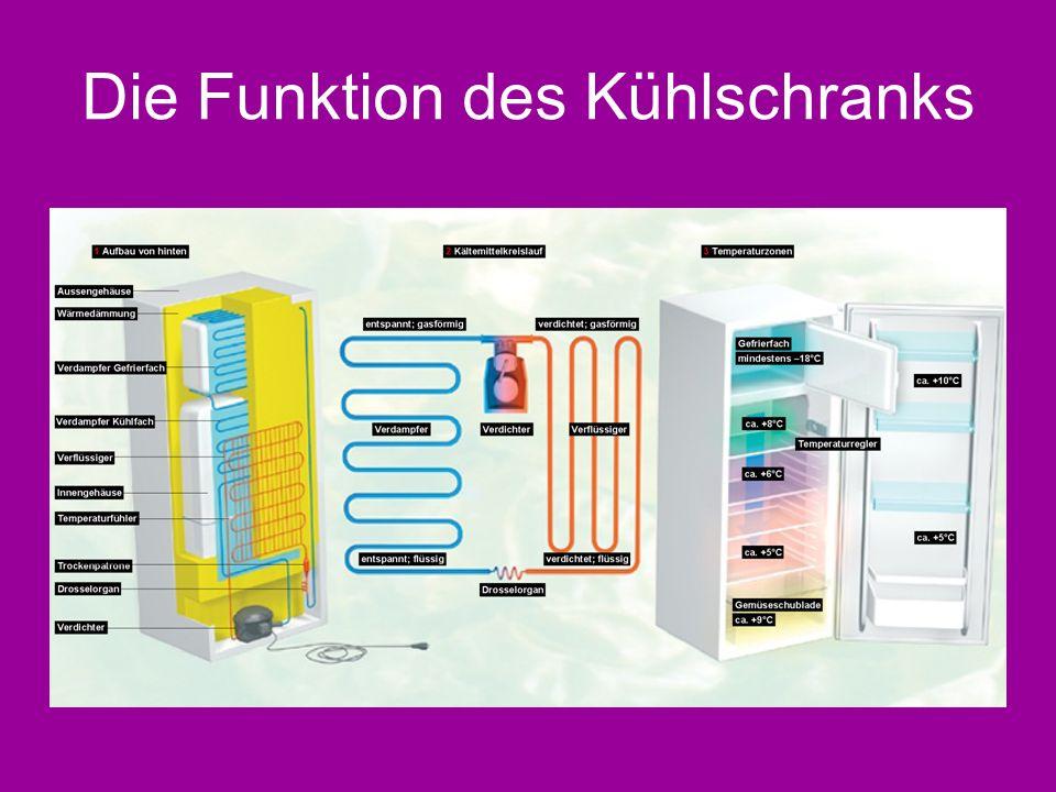 Die Funktion des Kühlschranks