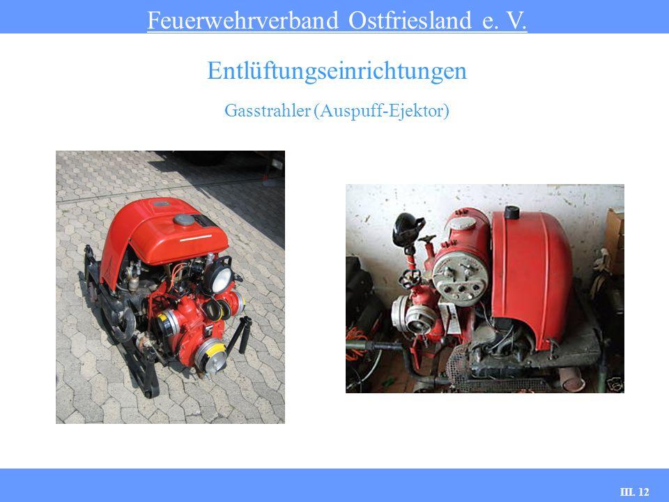 III. 12 Gasstrahler (Auspuff-Ejektor) Feuerwehrverband Ostfriesland e. V. Entlüftungseinrichtungen