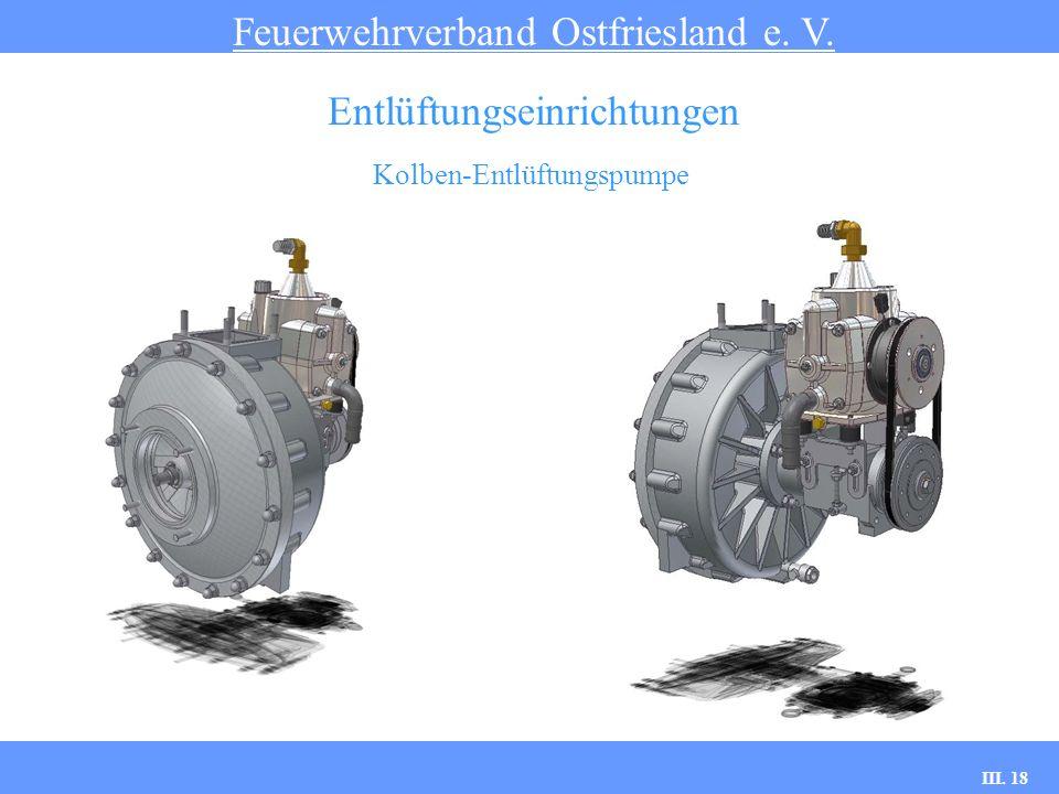 III. 18 Kolben-Entlüftungspumpe Feuerwehrverband Ostfriesland e. V. Entlüftungseinrichtungen