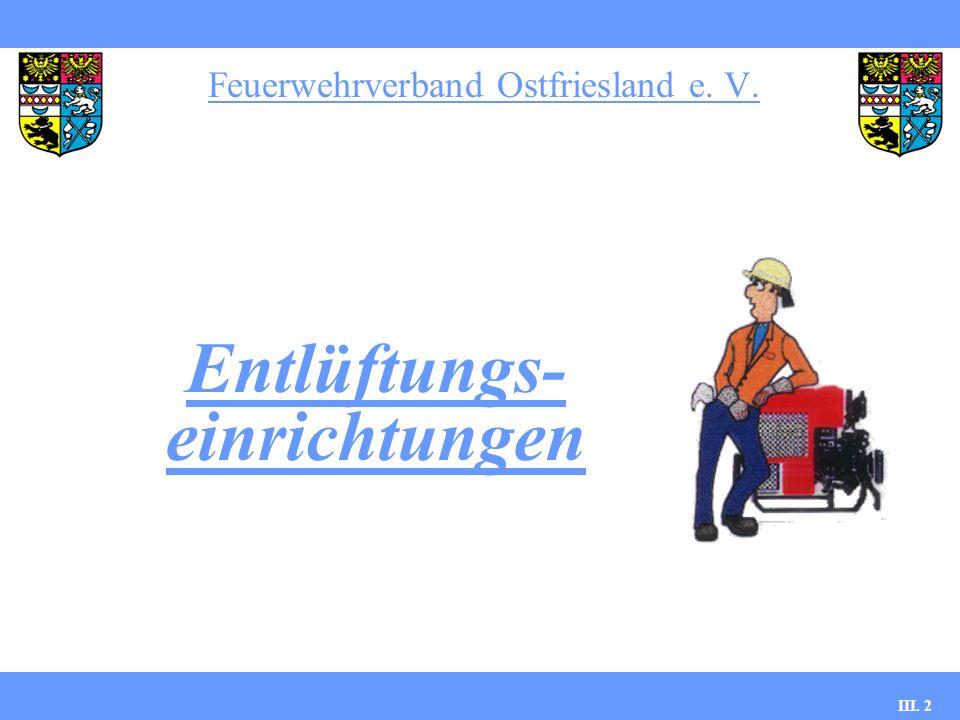 Feuerwehrverband Ostfriesland e. V. III. 2 Entlüftungs- einrichtungen