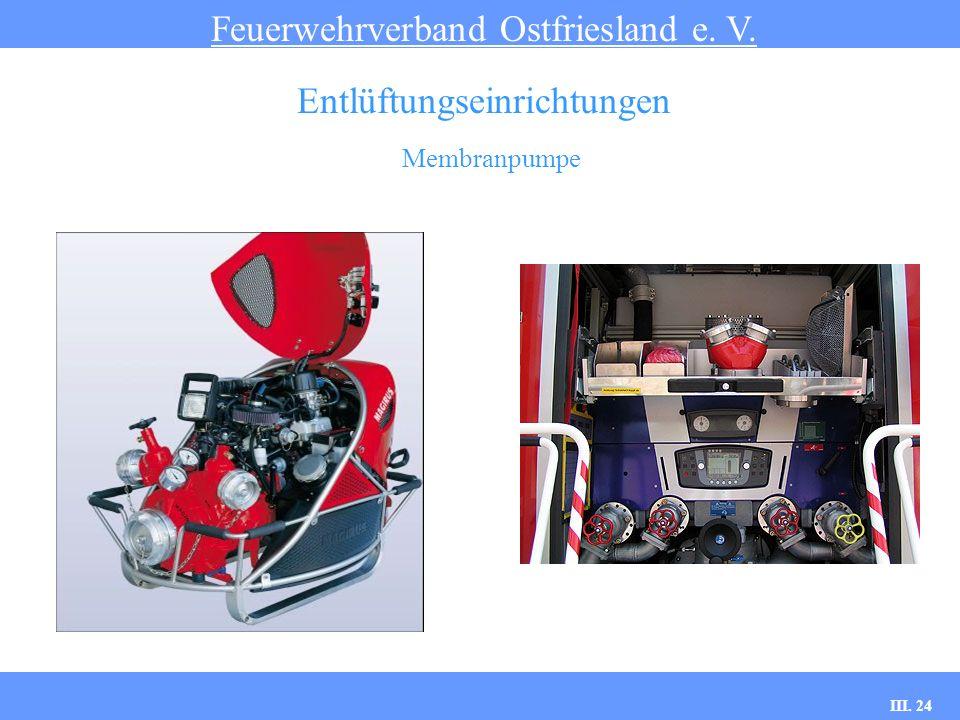 III. 24 Membranpumpe Feuerwehrverband Ostfriesland e. V. Entlüftungseinrichtungen